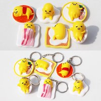 Finished Goods Props Gudetama Anime Gudetama PVC toy Cut Adora Doll Yellow Lazy Kawaii keychain Action figure 4cm Free shipping
