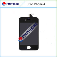 Wholesale Iphone Front Glass Tools - Black Color Front Glass Touch Screen Digitizer & LCD Assembly Replacement For iPhone 4 4G & Tools With Free Shipping