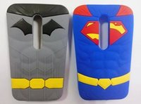 couverture 3d batman achat en gros de-3D Stéréo Superman Batman Hero Silicone en caoutchouc gel Housse souple pour LG G Pro Lite couverture D680 G3 Moto G2 Samsung Galaxy Grand G530 peau