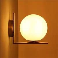 Wholesale Frosted Globe Lights - Replica Item 2017 New lights IC LIGHTS C W Lighting IC light family G9 LED Ball Globe Michael Anastassiades Wall lamp frosted glass