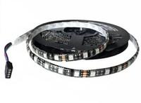 éclairage à bande led bon marché achat en gros de-Pas cher nouvelle 5M Flexible RGB Blanc Chaude Bleu Rouge LED Bande Lumineuse 16ft 5050 SMD 5M 300 LEDs WATERPROOF IP65 PCB noir Voiture Moto Éclairage LED