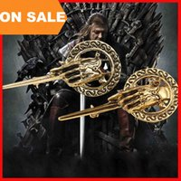 Wholesale Pins Movie - Movie jewelry Game Of Thrones Brooches Vintage Premier Brooch Pins Hand Of The King Ancient Brooch charm badge statement jewelry 170238