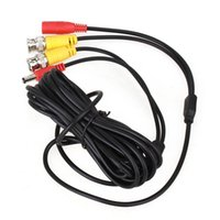 Wholesale Security Camera System Wire - 20m Meters 60 feet Black CCTV Security Camera Accessories BNC DC Video Power Cable Wire Lead for Surveillance DVR Kit Monitor System Install