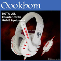 Wholesale Somic Microphone - SOMiC G923 WCG Professional Gaming Headphones Computer Voice Headset With Microphone Retail Package For DOTA 2 LOL CS Online PC Gaming