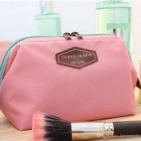 Wholesale Handbags Bright - Portable Cosmetic Case Zipper Bright Colorful Womens Girls Travel Cosmetic Toiletry Makeup Bag Handbag Beauty Pouch Drop Shipping ZD0007