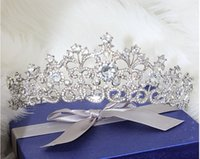 Wholesale Queens Tiaras Crowns - Snow Queen Crown Tiaras Wedding And Party Hair Jewelry 2015 May Style Free Shipping Best Selling