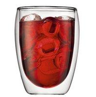 Wholesale Bodum Glasses - Wholesale-bodum High Quality 2pcs 80ml 250ml 350ml 450ml 600ml Wholesale Europe Double Wall Glass Coffee Cup Mug Tea Cup Glassware