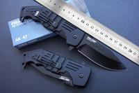 faca dobrável ak venda por atacado-Melhor qualidade New Cold Steel AK47 Survival tático faca dobrável facas faca de sobrevivência AK47 resgate Ourdoor com caixa de embalagem original em papel