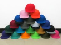 Wholesale Cheap Blank Ball Caps - Blank Snapback Hat solid adjustable cap cheap pace full color hot men womens baseball Cap top quality Freeshipping