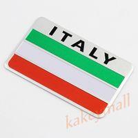 Wholesale Flag Parts - Universal Car Motor Parts Decal Sticker IT Italy Nation Flag Symbol Emblem Badge Trim Exterior Accessories