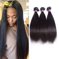 doğal saç uzatma fiyatları toptan satış-Perulu düz saç uzatma toptan fiyat hızlı sevkiyat Brazilain Hint Malezya saç dökülme 3 adet doğal renk düz saç