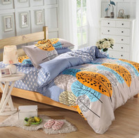 Wholesale Plain Comforters - Wholesale-Bedding Set Factory Direct Tree Printed Comforters Autumn Home Bedlinen Plain Cotton Home Bedding Set Twin Queen King