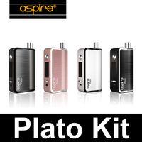 Wholesale aspire plato online - Aspire Plato Box Mod Starter Kit Original Authentic aspire plato mod start kit w Nautilus Coils ohm ml aspire plato kit ecigarettes