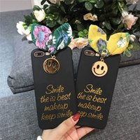 Corea Ins Bowknot Smiley Face Covers Cell Phone Covers TPU Soft Cases UNBreak Shell para iPhone X 6/7/8 plus