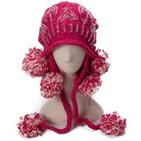 Womens Casual Fashion Strass getrimmt stricken Pom Pom Winter Slouchy Hut Ski Ohr wärmer Fuzzy Ball A017