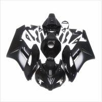 motocicletas de fibra de carbono plásticos al por mayor-Capucha brillante del carenado negro del ABS para 2006 2007 Honda CBR 1000 RR CBR1000RR