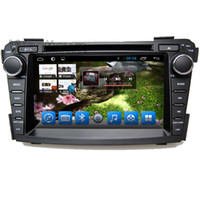 Wholesale Double Din Car Radio Rds - Double din android 4.4 car dvd player head units with 3g wifi touchscreen radio rds for Hyundai I40