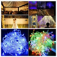Wholesale Neon Flowers - Copper Wire String Light Christmas Tree Decoration 10m-100LED 8 colors Wedding Decoration Lamp Outdoor Babysbreath waterproof neon lamp DHL