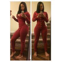 Wholesale Bodywear Women - Sexy Jumpsuit Women 2015 New Fashion Clubwear Long Sleeve Bodycon Bodysuit Bodywear Autumn Winter Playsuits Vesitdos Jumpsuits