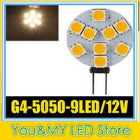 G4 9 5050 SMD LED Marine Camper Car Bulb Lampe 12V 3W Hot White Light Spot à haute intensité DHL gratuite