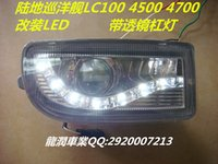 UK prado led - 1998-2007 Toyota Prado land cruiser 4500 4700 LC100 led drl daytime running light with fog lamp and projector len top quality