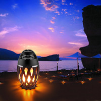 Wholesale flame lights for sale - Group buy Portable LED Flame Lamp Wireless Speaker Stereo Bluetooth BT4 Speaker IP65 Atmosphere Soft Warm Light For iPhone Android Christmas Gift
