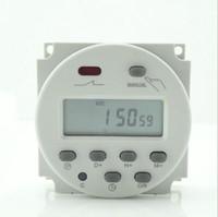 interruptor de relé de 24v al por mayor-Nuevo 12V 16A Time LCD Digital Power Temporizador programable de CA Interruptor de relé 200v / 12v / 24v / 110v