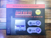 Wholesale Usb Handheld - Super Mini Classic SFC TV Handheld Game Console Entertainment System Buit-in 400 Classic games SFC NES SNES Games Console