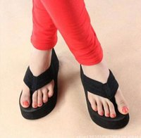 Wholesale Platform Thongs Flip Flops - Wedge Platform Thong Flip Flops Summer Girls Sandals Shoes Beach Casual Slippers order<$18 no tracking