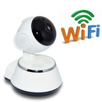 Free 8G card V380 WiFi IP Camera smart Home wireless Telecamera di sorveglianza Telecamera di sicurezza Micro SD Network Girevole CCTV IOS PC