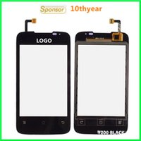 Wholesale Ideos Screen - See Item Description have price list Y210 Y200 Original HUAWEI Ascend Y200 IDEOS Y200 U8655 Touch Screen Digitizer Glass Panel By DHL EMS