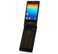 Wholesale Smart Flip Cell Phones - Lenovo A588T Flip Smart Cell Phone Android 4.4 MTK6582 Quad Core wifi 3G WCDMA Dual Sim Cards Unlocked Dual Camera Dropship Phone