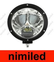 12v 45w toptan satış-UTV için Yuvarlak Cree led Işık Kamyon 45 W 4X4 LED İş Işık ATV AWD 12 V / 24 V Araba offroad Işık 4WD Nokta 30 Derece 4500lm 3X15 W HSA1928