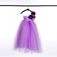 Wholesale Now Wedding - Real Image Flower Dress For Little Girl To Wedding Tank Now Lilac Tulle Flower Girl Dresses Pageant Lovely Girl Dresses
