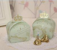 düğün hediye çantası kutuları toptan satış-Tatlı İmparatorluk Sevimli Taç Düğün Şeker Kutuları Şekeri Bebek duş Hediye Çanta Düğün Kutuları 100 adet / grup