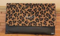 Wholesale Leopard Hair Clutch - Wholesale-HOT Lady Leopard Artificial leather Clutch Bag,Women Horse Hair evening bags leopard Purse Handbag Envelope Evening Bag, EB160