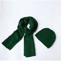 Wholesale Selling Winter Scarves Two Sets Of Knitted Hats Scarves And Hats Woman