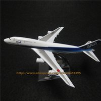 Wholesale Toys Ana - Wholesale-16cm Alloy Metal Japan Air ANA Airlines Boeing 747 B747 JA8961 Airways Airplane Model Plane Model W Stand Aircraft Toy Gift