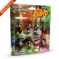 Wholesale Novelty EL Chavo Doll Stands Cartoon PVC Action Figure Toy Model Lovely Play Doll Anime Desk Car Accessories Kids Party Favors