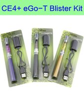 Wholesale Electronic Cigarette Atomizer E Liquid - ce4 plus eGo-T blister kit e cigarette EgoT Battery ce4+ liquid atomizer for electronic cigarettes kit