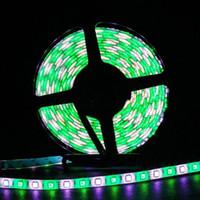 tiras de iluminación led exterior color al por mayor-Tira de LED súper brillante 60 LED / m 5050 SMD RGBWW Tira de LED RGBW RGB Luz de color blanco 12V Luz exterior impermeable