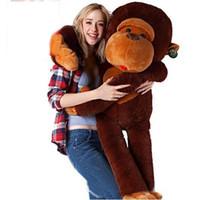 Wholesale valentines stuffed animals resale online - 80CM stuffed monkey toy plush monkey Giant monkey stuffed animal Valentine gift for Girls