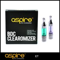 Wholesale Fast Bottoms - Wholesale Atomizer Aspire ET BVC Ego Atomizer Bottom Vertical Coil Aspire BVC ET Clearomizer Electronic Cigarette Atomizer Fast Delivery