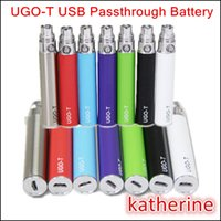 Wholesale Ego Cigarette Colorfull - E Cig UGO-T Battery 650mah 900mah 1100mah E Cigarette UGO T Charged by Android Cable USB Passthrough Colorfull Upgraded eGo-T Battery