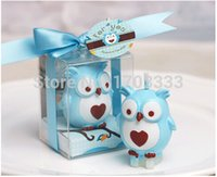 Wholesale Candle Favors For Baby Shower - 200pcs lot 2015 New personalized wedding favors and gifts for guests souvenirs Baby shower birthday part owl candle