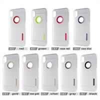 karbon fiber iphone toptan satış-IPhone 8 için Artı iPhone x Kılıf Arka Kapak Kılıf Temizle Karbon Fiber TPU + PC iPhone 7 7 Artı Samsung Not 8 S8Plus