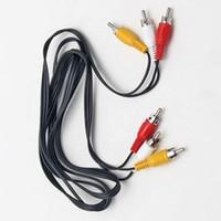 av кабель стерео rca оптовых-Новый 3 RCA мужской AV до 3 RCA мужской стерео аудио видео кабель шнур для AV TV DVD 5ft