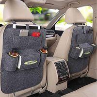 Wholesale Modern Car Seats - 9 colors Storage Bag Auto Car Seat Organizer Holder Multi-Pocket Travel Hanger Backseat Organizing Box 10pcs YYA820