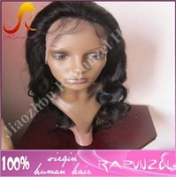 Wholesale Man Natural Long Hair Wigs - Top quality body wave brazilian hair cheap lace front wig for black man in stock