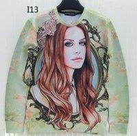 Wholesale Hair Flower Women - [Magic] Long hair beautiful lady flowers print hot 3d sweatshirt women casual hoodies o neck sweatshirts I13 free shipping
